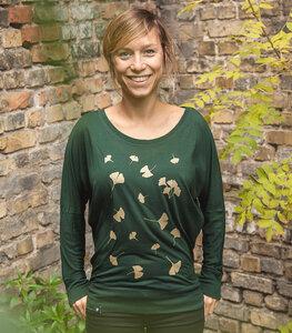 Ginkgo Blätter - Fair gehandeltes Frauen Flowshirt - päfjes