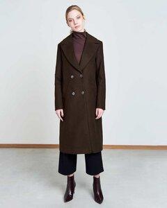 Mantel EUROPA doppelreihig in moccabraun - JAN N JUNE