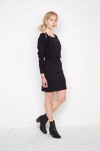 schwarzes Strickkleid Elli aus Biomerinowolle - Susan's Fashion