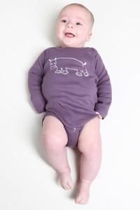 "Kipepeo Baby-Body ""Hippo"". Handmade in Kenya - Kipepeo-Clothing"