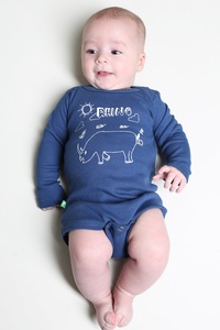 "Kipepeo Baby-Body ""Rhino"". Handmade in Kenya - Kipepeo-Clothing"