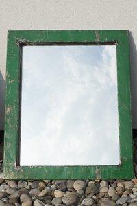 Spiegel aus recycelten Ölfässern 46*40cm Post-Oil Industrial Upcycling - Moogoo Creative Africa