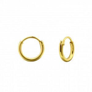 Kleine Creolen Ohrringe (8mm)- 925er Sterling Silber - Gold  - LUXAA