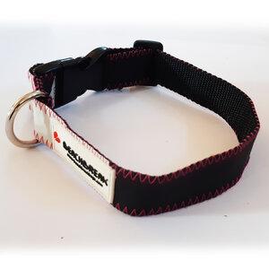 Verstellbares Hundehalsband hergestellt aus Segeltuch > 42 cm UNIKAT - Beachbreak