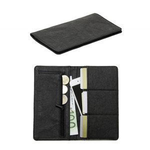 Geldbeutel Frauen groß Geldbörse Damen Portemonnaie lang schwarz RFID - FRITZVOLD
