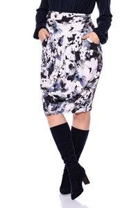 OLESJA Tulpenrock aus seidigem Modal-Jersey (Anemone aquarell) - Ingoria