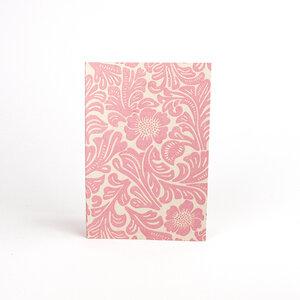 Handgefertigtes Din A6 Notizbuch öko Jutepapier - rosa - Sukham