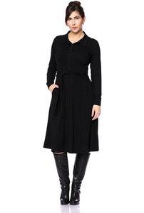 STELLA Hemdblusenkleid aus Modaljersey in schwarz - Ingoria