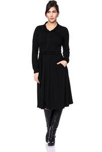 STELLA Hemdblusenkleid (schwarz) - Ingoria