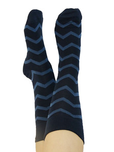 Ringel Zickzack Socken 2 Farben Bio-Baumwolle geringelt gestreift - Albero