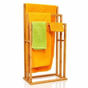 Handtuchhalter / Handtuchständer stehend mit 3 Handtuchstangen  - Bambuswald