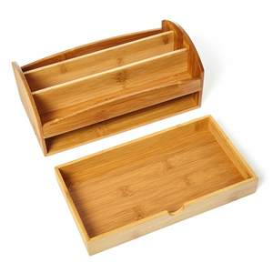 Schreibtisch Organizer Aufbewahrungsbox Stiftebox Stiftehalter  - Bambuswald