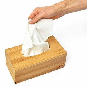 Taschentücherbox | Papiertücherbox aus 100% Bambus ca 26x15x11cm - Bambuswald