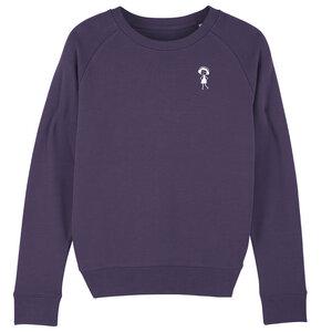 Damen Sweatshirt Logopulli Violett Bio Fair - FellHerz