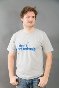 I DONT EAT ANIMALS hellgrau für Männer - MR. NELSON ecowear