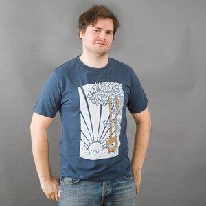 HENK jeansblaues Herrenshirt - MR. NELSON ecowear