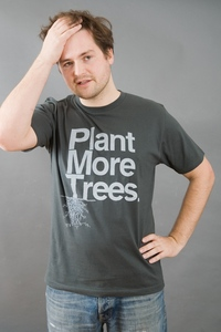 T-Shirt PLANT MORE TREES dunkelgrau - MR. NELSON ecowear