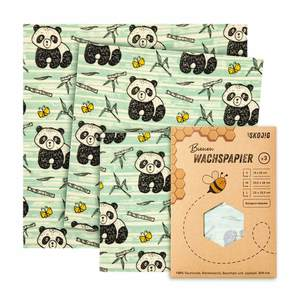 3er Pack Wachspapier | Bienenwachstücher für Lebensmittel - Bambuswald