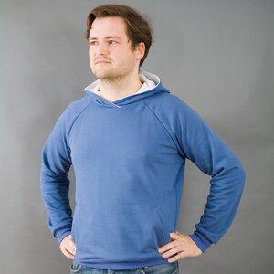 BART ozeanblauer Hoodie - MR. NELSON ecowear