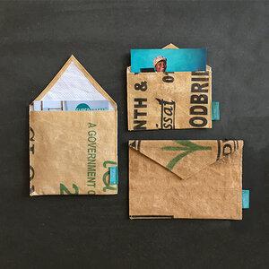 Briefumschlag  - wiederverwendbar - upcycling  - SuperWaste