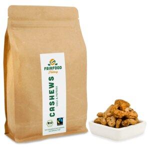 Cashewkerne Chili & Paprika (500g) Bio & Fairtrade  - fairfood Freiburg