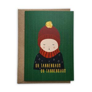 Weihnachtskarte Kind aus Recyclingpapier - TELL ME
