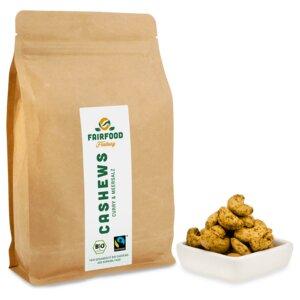 Cashewkerne Curry & Meersalz (500g) Bio & Fairtrade  - fairfood Freiburg