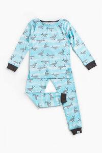 """Pyjama aus Bio-Baumwolle """"Buckelwale"""" Blau, OceanBluu - OceanBluu"""