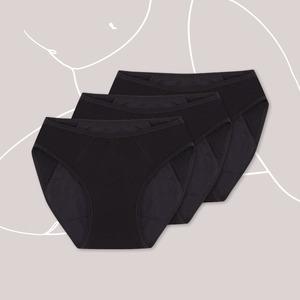 3er Pack Menstruations-Panty Slip Style – Periodenunterwäsche - KORA MIKINO SUSTAINABLE FEMCARE