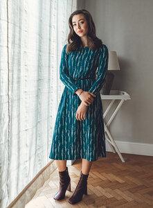 Jersey-Kleid Malala aus Bio-Baumwolle - l'amour est bleu