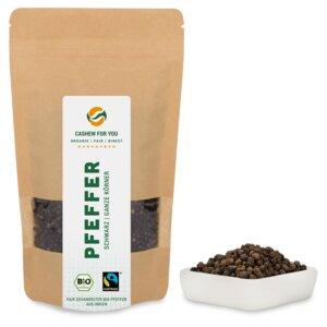 Pfeffer schwarz ganz (150g) Bio & Fairtrade - fairfood Freiburg