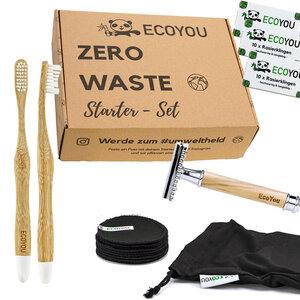 EcoYou® Zero Waste Starter Set - Bad inkl. Rasierhobel, Abschminkpads usw - EcoYou