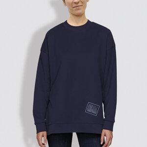 """Damen Sweater, """"Kurz und gut"""", Blau - Navy - little kiwi"""