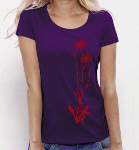 Blumen / Lila & rot / T-Shirt für Frauen - Picopoc