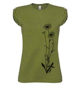 Blumen T-Shirt in grün  - Picopoc