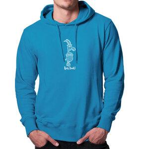 Kein Bock ! Kapuzenpullover Hoodie für Männer in blau - Picopoc