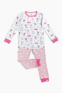 """Pyjama aus Bio-Baumwolle """"Katzen"""" Rosa, OceanBluu - OceanBluu"""