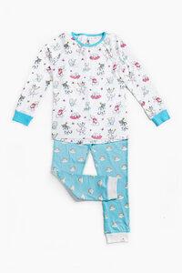 """Pyjama aus Bio-Baumwolle """"Katzen"""" Blau, OceanBluu - OceanBluu"""