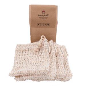 bambudo® Seifensäckchen aus Sisal im 4er-Pack - bambudō