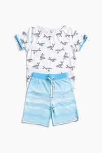 """Pyjama aus Bio-Baumwolle """"Glückliche Wale"""" Blau, OceanBluu - OceanBluu"""