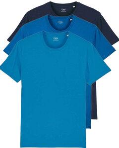 3er Pack Basic Bio T-Shirts für Sie und Ihn, viele Farbkombinationen  - YTWOO