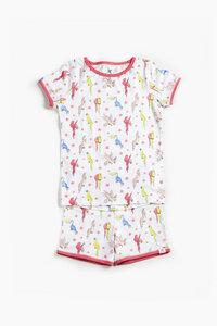 "Pyjama aus Bio-Baumwolle ""Papageien"" OceanBluu - OceanBluu"