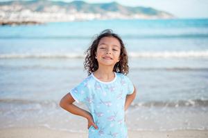 "Pyjama aus Bio-Baumwolle ""Herz-Buckelwale"" Blau  OceanBluu - OceanBluu"