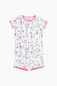 """Pyjama aus Bio-Baumwolle """"Lemuren"""" OceanBluu - OceanBluu"""
