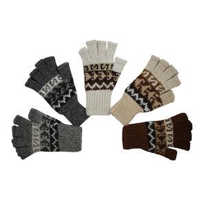 mariposa fair trade Handschuhe Fingerspitzenfrei Natur-Alpaka - mariposa