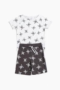 """Pyjama aus Bio-Baumwolle """"Schildkröten"""" OceanBluu - OceanBluu"""