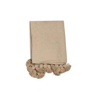 PomPom Decke Sand - nandi