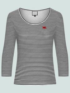 That's me - gestreiftes Langarmshirt aus Bio-Baumwolle, schwarz-weiß - Mademoiselle YéYé