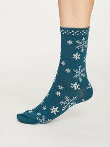 Schneeflocken Bambus Socken - Thought