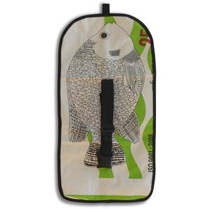 Waschtasche Animal zum Aufhängen aus Zement-/ Fischfutter-/ Reissack - Upcycling Deluxe